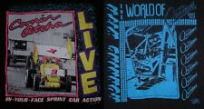 VTG Sprint Car COMIN ATCHA LIVE/RUNNING WITH THE WORLD OF OUTLAWS T-Shirt Sz L
