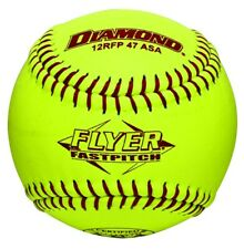 "Dozen 12"" Leather Cover Fastpitch Softballs Polyurethane Core Asa Stamped 12Rfp"