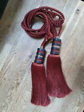 Vintage Retro Wooden Curtain Hold Backs Rope Tie Backs Tassel