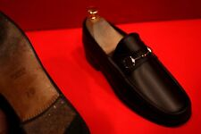 $689.00 !! GUCCI WOMEN'S BROWN  LUXURY LEATHER HORSE BIT LOAFERS SIZE 7 B