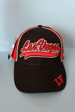 LAS VEGAS HAT CAP RED BLACK WHITE ADJUSTABLE ONE SIZE NEW WITH TAGS KOSKASH