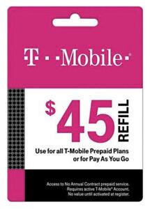 T-Mobile Prepaid Refill $45