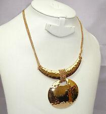 El aclaramiento ventas Chapado en Oro Con Colgante Collar Joyería Fiesta