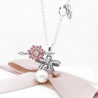 Pandora S925, NEW, Delicate Sentiments Pendant Necklace, 390380P-70cm Chain