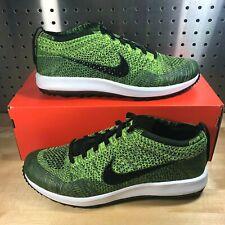 size 40 51936 3c7e3 Nike Men s Flyknit Racer G Volt Sequoia Black Golf Shoes 909756-700 Size 10