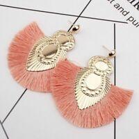 2019 Women Bohemian Earrings Long Tassel Fringe Boho Dangle Hook Earring Jewelry