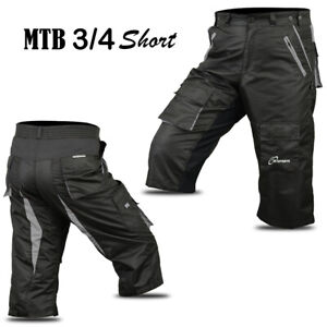 3S Sports MTB Cycling 3/4 Short Off Road Running Shorts Downhill Unisex S To XXL