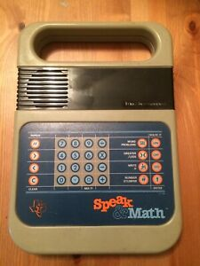 Speak & and Spell Math Electronic Toy PARTS OR REPAIR