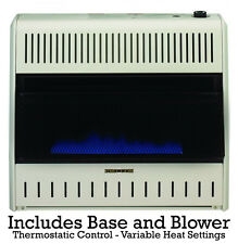 ProCom 30000 BTU Dual Fuel Vent Free Blue Flame Heater with Blower & Base NG LP