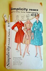 Vintage 1950s Simplicity Sewing Pattern. Ladies Dress. Fitted Bodice/Full Skirt.