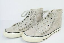 Converse Chuck Taylor Hi Grey Leather Perforated Studded Womens Sneakers sz 7