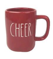 NEW Rae Dunn by Magenta CHEER Christmas Holiday Xmas Coffee Cup Red Mug