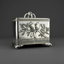 Rare Antique Tiffany & Co. Solid Sterling Silver Tea Caddy. Japanese / Aesthetic
