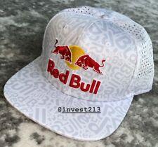 RED BULL ATHLETE ONLY HAT - 2020 SNAPBACK WHITE - CAP - ALL OVER - MONSTER