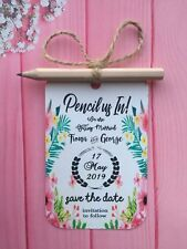 Pencil Us In Save The Date Wedding Invitation Evening Calendar Card Envelope C14