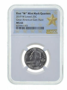 2019 W Lowell Quarter NGC MS 66 Great American Coin Hunt First Star Holder *0137