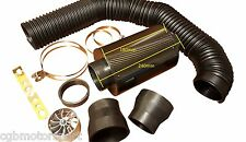 CARBON FILTER INDUCTION KIT UNIVERSAL COLD AIR FEED INTAKE 60 65 70 75mm + FAN