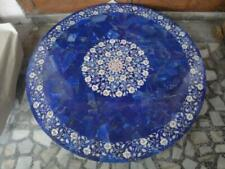 36'' blue lapis marble table top coffee center fancy inlay mosaic home