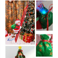 LED Christmas Decoration Santa Claus Electric Climbing Hanging Xmas Toys