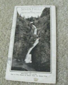 Early 1900s Tourist Brochure Seven Falls Company Colorado Springs Canon