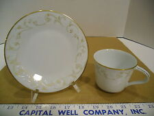 Japanese Noritake Duetto Tea Cup & Saucer Set #6610 - EUC