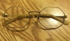 8218b24b5c RARE Vintage 60 s Itek Sunspree 1 20 10K GF Octagon Hippy Gold Frame  Eyeglasses