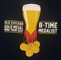 Old Chicago World Beer Tour Shirt GOLD MEDAL Mini Tour 2012 MEDALIST 3xl XXXL