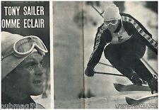 H- Coupure de presse Clipping 1958 (6 pages) Ski Tony Sailer Homme Eclair