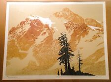 1970s MOUNT SHUKSAN, NORTH CASCADES NATIONAL PARK PRINT, SIGNED MURDOCK, FRAMED