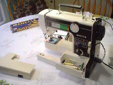 White Precision Built Zig Zag Sewing Machine w Pedal