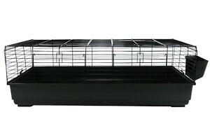 Extra Large Indoor Rabbit Cage Hutch 140cm Black Single Tier Bunny Guinea Pig