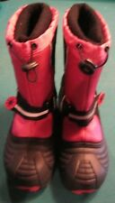 kids boots totes  size 4 black pink