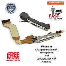 Replacement iPhone 4S Charging Dock Assembly + Microphone & Loud Speaker - WHITE