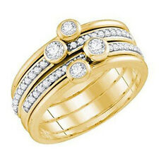 Right Hand Ring 1/2 Ct (Size 9) 10K Yellow Gold White Diamond Ladies Fashion