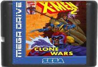 X-Men 2: Clone Wars (1995) 16 Bit Game Card For Sega Genesis / Mega Drive System