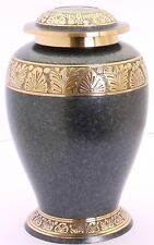 Cremation Urn for Ashes Adult funeral memorial Gold Grey urn large urn adult urn