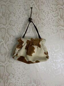 Vintage L.K. Bennett Leather Cowhide Handbag Small 90s Y2k 00s