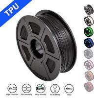 SUNLU TPU/Flexible 3D Printer Filament 1.75mm 1KG/2.2lb Spool Black Elastic TPU