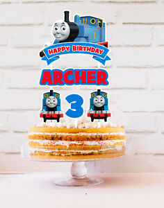 THOMAS THE TANK ENGINE CAKE TOPPER PERSONALISED BUNTING THOMAS AND FRIENDS PARTY
