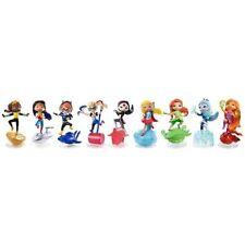 DC Super Hero Girls Vinyl Mini Doll Set Of 9 Wonder Woman Harley DWC93 New