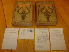 H G WELLS-WAR OF THE WORLDS-1ST PUBLICATION 1897+SIGNED LETTER-HB-G/VG-MEGA RARE
