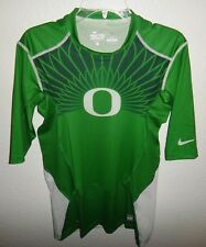 NEW L NIKE PRO COMBAT COMPRESSION TEAM ISSUED OREGON DUCKS FOOTBALL SHIRT PE USA