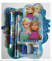 Disney Frozen Elsa Anna Olof:6pcs Stationary School Set Kids Fun Gift Activity