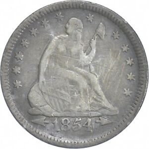 1854 Seated Liberty Quarter - Charles Coin Collection *901
