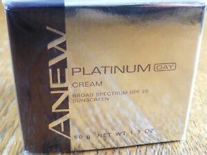 Avon Anew Platinum DAY Cream, Broad Spectrum SPF 25 Sunscreen, SEALED, NEW