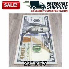 100 Dollar Bill Rug Nonslip Area Runner Decorative Kitchen Hallway Floor Mat