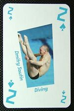 1 x playing card London 2012 Olympic Legends Dmitry Sautin Diving 2 Spades