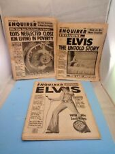 3 Newspaper National Enquirer Elvis Presley Untold Story Anniversary His Death