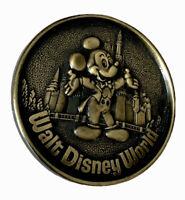Mickey Mouse Walt Disney World Productions Vintage Bronze Metal Coaster!