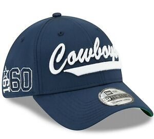 Official 2019 NFL Dallas Cowboys Home On Field New Era 39THIRTY Stretch Fit Hat